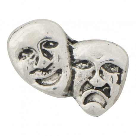 Comedy and Tragedy - Theatre Mask Floating Charm