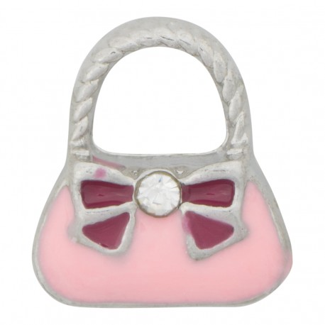 Purse Handbag with Ribbon Floating Charm