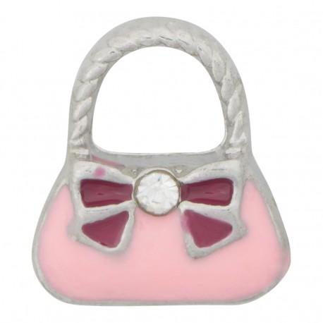 Purse Handbag with Ribbon Floating Charm