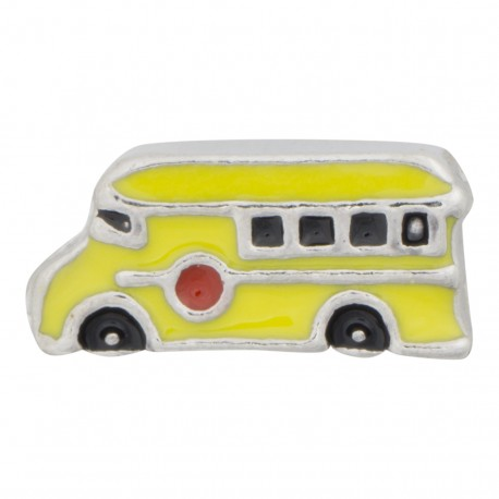 School Bus Floating Charm
