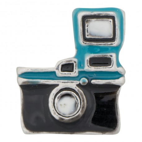 Camera with Flash Floating Charm