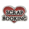 Scrap Booking - Heart Floating Charm