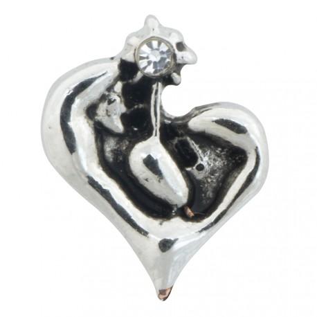 Nativity Heart Floating Charm