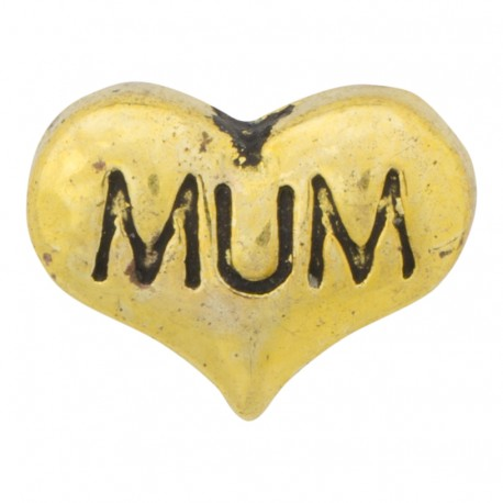 Heart - Mum Floating Charm
