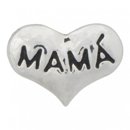 Mamá - Heart Floating Charm