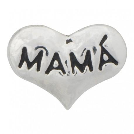Mamá - Heart Floating Charm