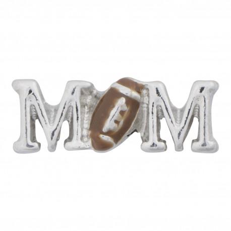 Mom Text - Football Floating Charm