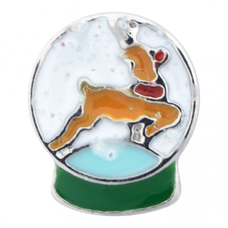 Snow Globe - Reindeer Floating Charm