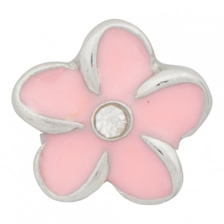 Flower - Pink Floating Charm