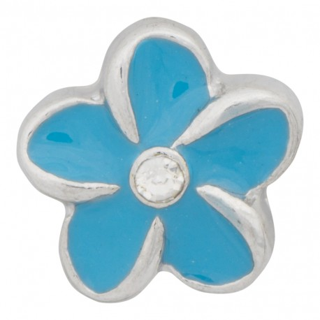 Flower - Turquoise Floating Charm