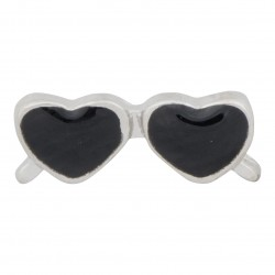 Heart Sunglasses - Black Floating Charm