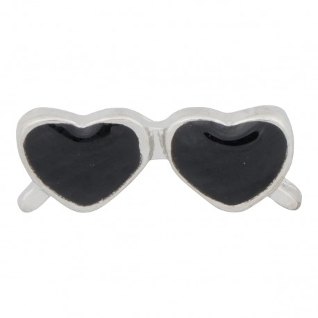 Heart Sunglasses - Black Floating Charm