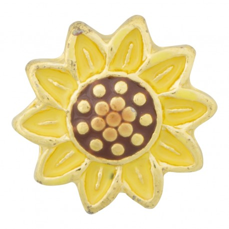Sunflower - Flower Floating Charm