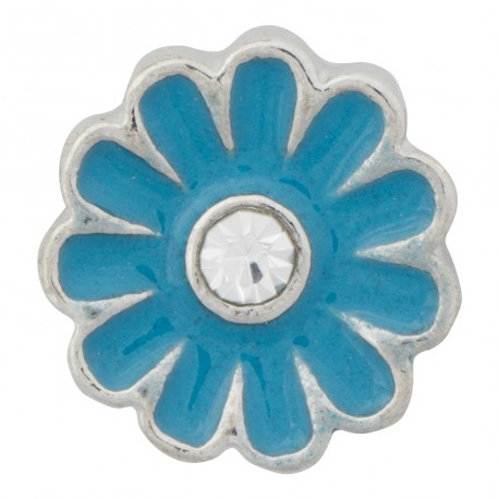 Flower - Blue Floating Charm