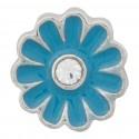 Flower - Blue Floating Charm