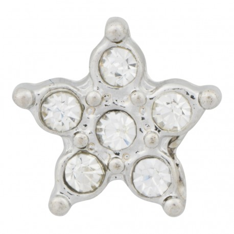 Star with Crystals Floating Charm