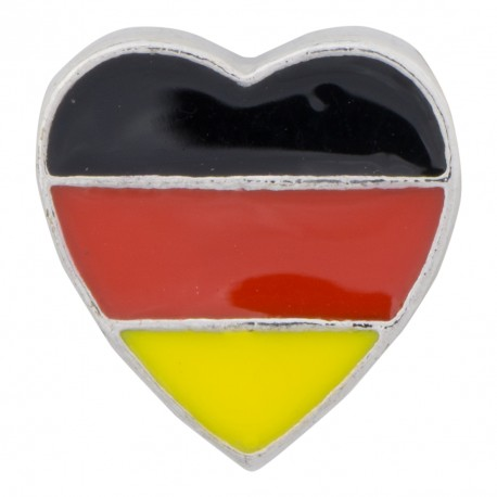 Heart - German Colors Floating Charm