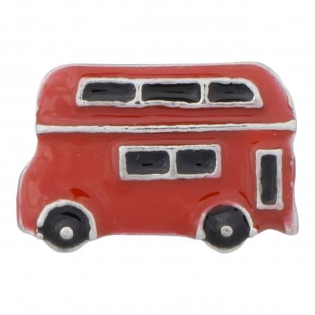 Bus / Van - Red Floating Charm