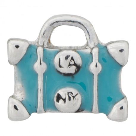 Suitcase - LA to NY Floating Charm