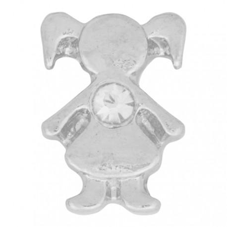 Girl with Diamond Crystal - Birth Stone Floating Charm