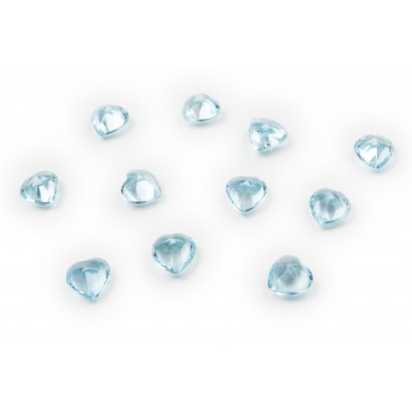 Heart Crystal - Aquamarine