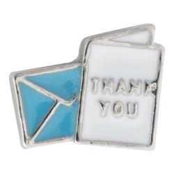 Thank You Card Floating Charm
