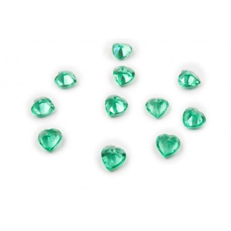 Heart Crystal - Emerald