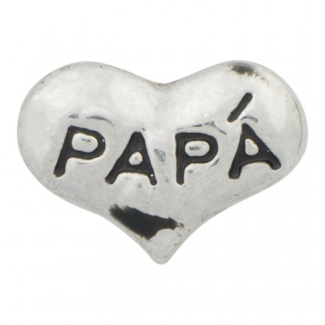 Heart - Papa Floating Charm