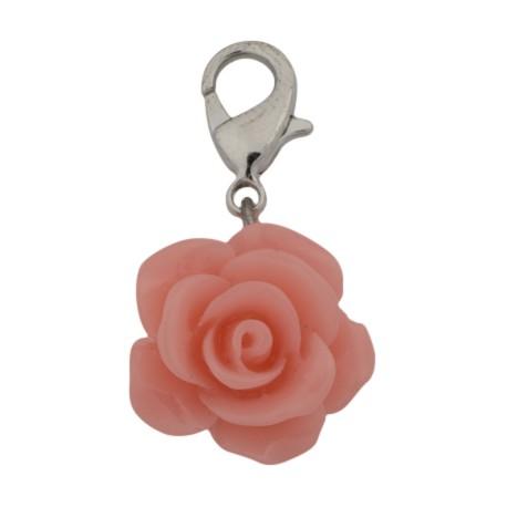 Rose Dangle - Coral