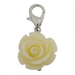 Rose Dangle - White