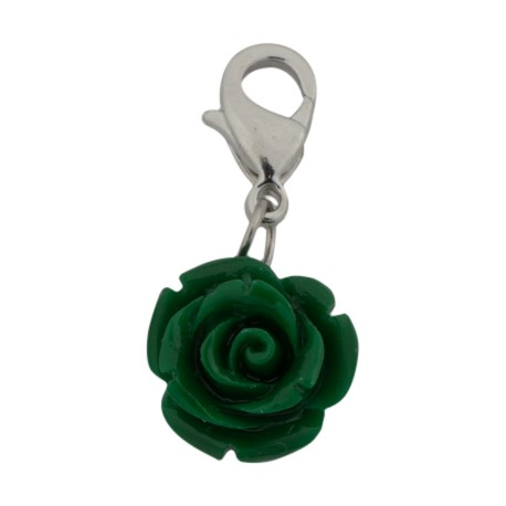 Rose Dangle - Green