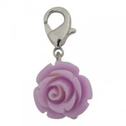 Rose Dangle - Purple
