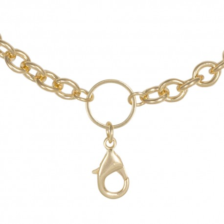 Cable Chain w/ Jump Ring - Gold - 28""