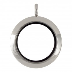 Glass Locket  - Silver - Medium