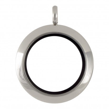 Glass Locket - Silver - Medium