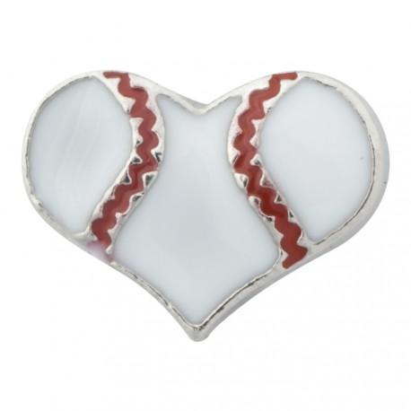 Heart - Baseball Floating Charm
