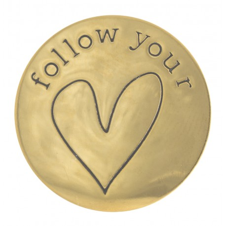 Follow Your Heart - Gold - Large
