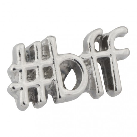 Best Friends Forever - Hashtag BFF Floating Charm