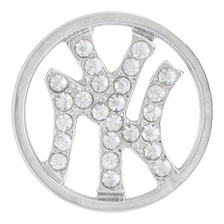 New York Yankees w/ Crystals - Silver