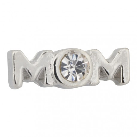 Mom with Crystal Floating Charm
