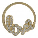Love w/ Crystals - Gold - Large