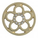 Flower w/ Crystals - Gold - Large