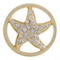 Starfish w/ Crystals - Gold - Large