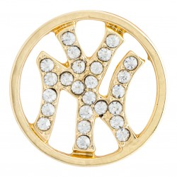 New York Yankees w/ Crystals - Gold - Large