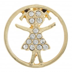 Girl w/ Crystals - Gold - Large