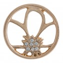 Flower w/ Crystals - Rose Gold - Large