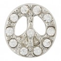 Peace w/ Crystals Floating Charm