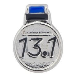 Half Marathon Medal Floating Charm