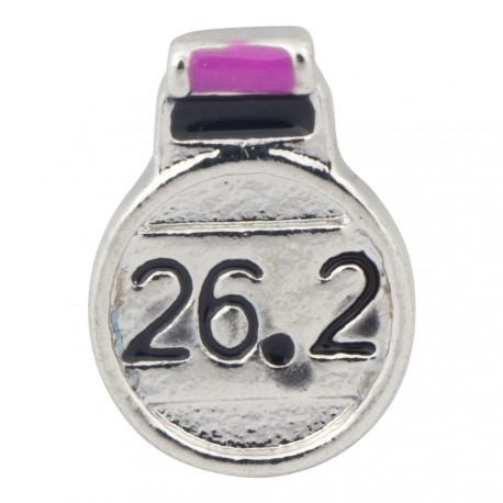 Running - Marathon - 26.2 Miles Floating Charm