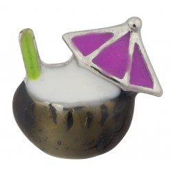 Coconut Drink with Umbrella Floating Charm